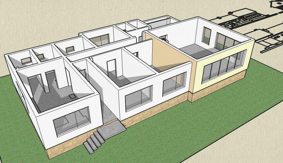 Atelier d 39 architecture maison 1 5 2 dolni bogrov Croquis d une maison