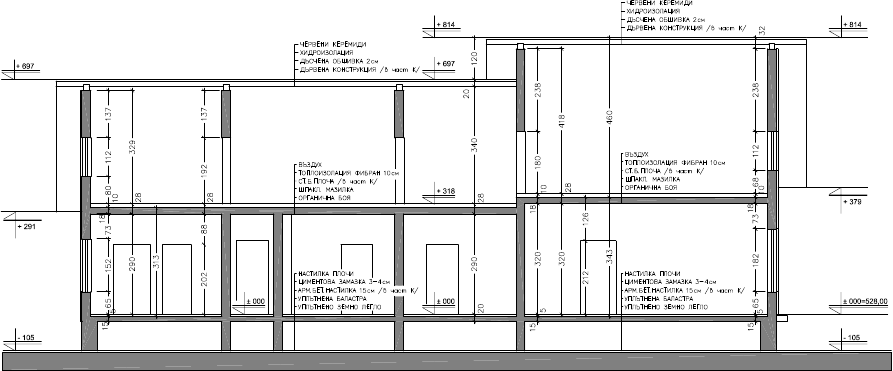 Atelier d 39 architecture maison 1 5 2 dolni bogrov - Comment faire un plan en coupe ...