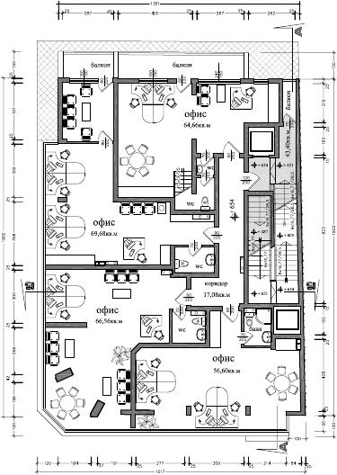 Atelier d 39 architecture immeuble dondoukov sofia for Immeuble bureau plan