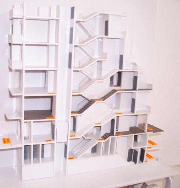 Atelier d 39 architecture immeuble dondoukov sofia - Architectuur escalier ...