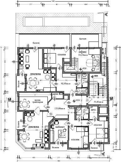 Plan du niveau r 2 logements