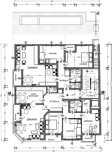 immeuble 3 appartements plan